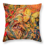 Pomegranates Of Luck Throw Pillow