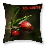 Pomegranite Art Throw Pillow