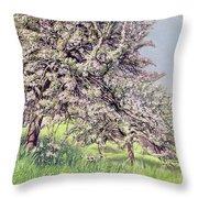 Pommiers Fleuris Throw Pillow