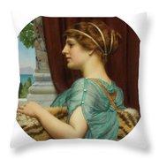 Pompeian Lady Throw Pillow