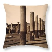 Pompeii, Excavation Throw Pillow