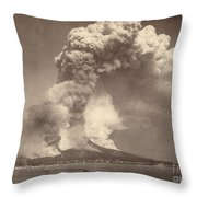 Pompeii: Mount Vesuvius Throw Pillow