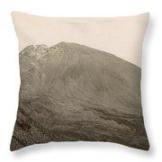 Pompeii: Mt. Vesuvius, C1890 Throw Pillow