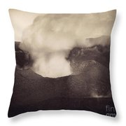 Pompeii: Vesuvius Crater Throw Pillow