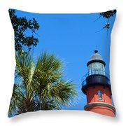 Ponce Del Leon Inlet Florida Throw Pillow