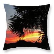 Ponce Inlet Florida Sunset Throw Pillow