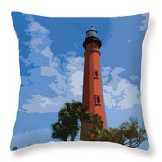 Ponce Inlet Light Throw Pillow