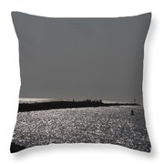 Ponce Inlet Pier Throw Pillow