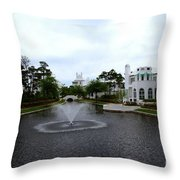Pond At Alys Beach Throw Pillow by Megan Cohen