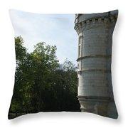 Pond At Azay Le Rideau Throw Pillow