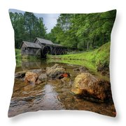 Pond At Mabry Mill Throw Pillow