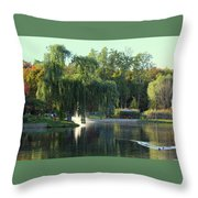 Pond At Mae Stecker Park In Shelby Township Mi  Throw Pillow