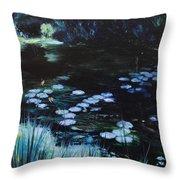 Pond At Port Meirion Throw Pillow