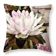 Pond At Water House Throw Pillow