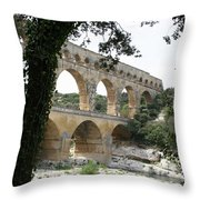 Pond Du Gard II Throw Pillow