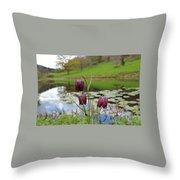 Pond Dwellers Throw Pillow