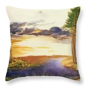 Pond In The Wood Throw Pillow
