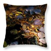 pond leaves RIV M 23 Throw Pillow