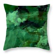 Pond Life Abstract Throw Pillow