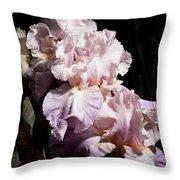 Pond Lily Iris  Throw Pillow