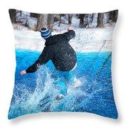 Pond Skimming Throw Pillow