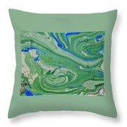 Pond Swirl 1 Throw Pillow