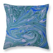 Pond Swirl 3 Throw Pillow
