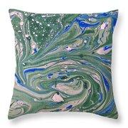 Pond Swirl 4 Throw Pillow