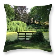 Pond With Water Ridge Throw Pillow