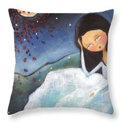 Pondering Throw Pillow