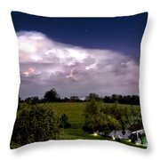 Pondsky At Night Throw Pillow