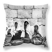 Ponfils 1898 Arab Women Throw Pillow