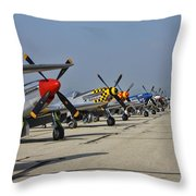 Ponies All In A Row Throw Pillow