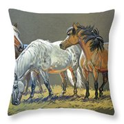 Ponies Throw Pillow