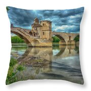 Pont D'avignon France_dsc6031_16 Throw Pillow