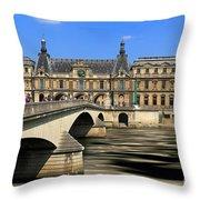 Pont Du Carrousel Throw Pillow