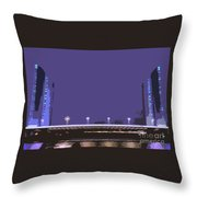Pont Jacques Chaban-delmas Abstraction Throw Pillow