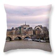 Pont Neuf In Paris Throw Pillow