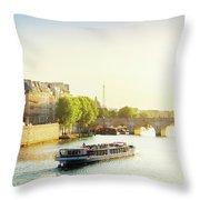 Pont Neuf In Sunset Light Throw Pillow