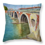 Pont Neuf Sur La Garonne At Toulouse Throw Pillow