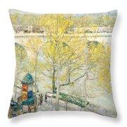 Pont Royal Paris Throw Pillow
