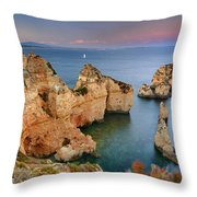 Ponta Da Piedade Stairs Throw Pillow