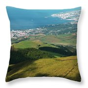 Ponta Delgada And Lagoa Throw Pillow