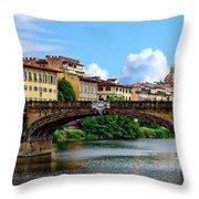 Ponte Santa Trinita Throw Pillow