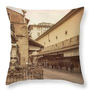 Ponte Vecchio Florence Italy Throw Pillow