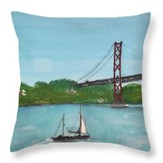 Ponte Vinte E Cinco De Abril Throw Pillow