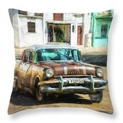 Pontiac Havana Throw Pillow by Lou Novick