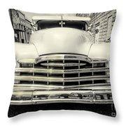 Pontiac Torpedo In Black And White Throw Pillow