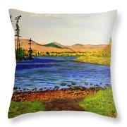 Pontoosuc Lake Pittsfield Massachusetts Throw Pillow
