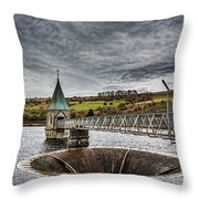 Pontsticill Reservoir Valve Tower Throw Pillow